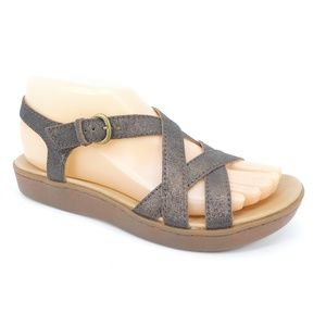 Born Mahala Antique Gold Leather Open Toe Sandals
